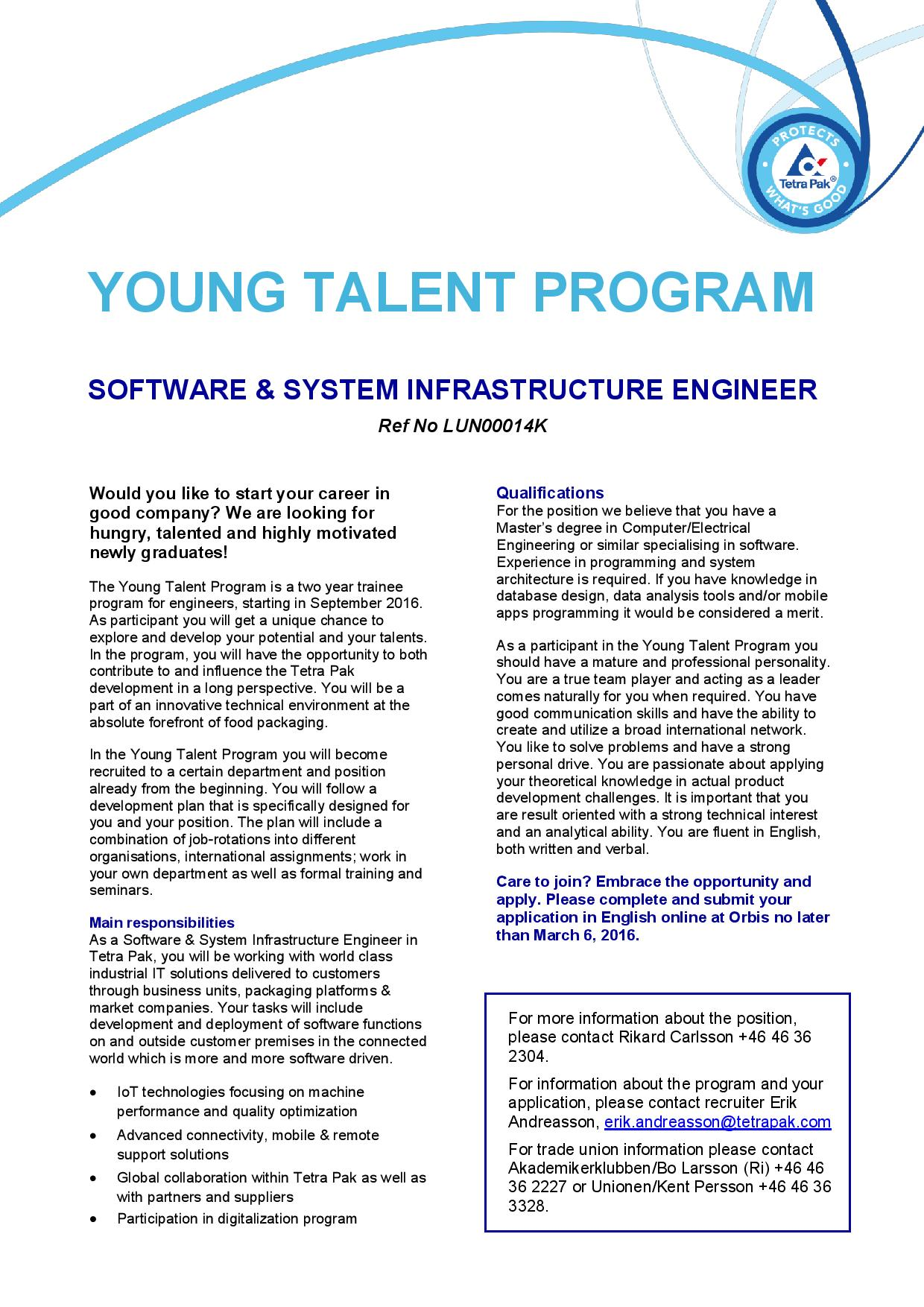 YTP - Software  System infrastructure Engineer